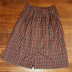 Vintage Red&Green Plaid Skirt